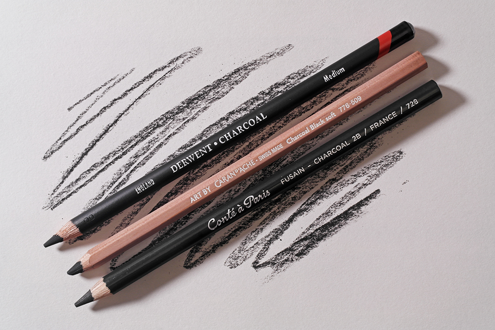 Selection of Charcol Pencils from Derwent, Caran d'Ache and Conte A Paris