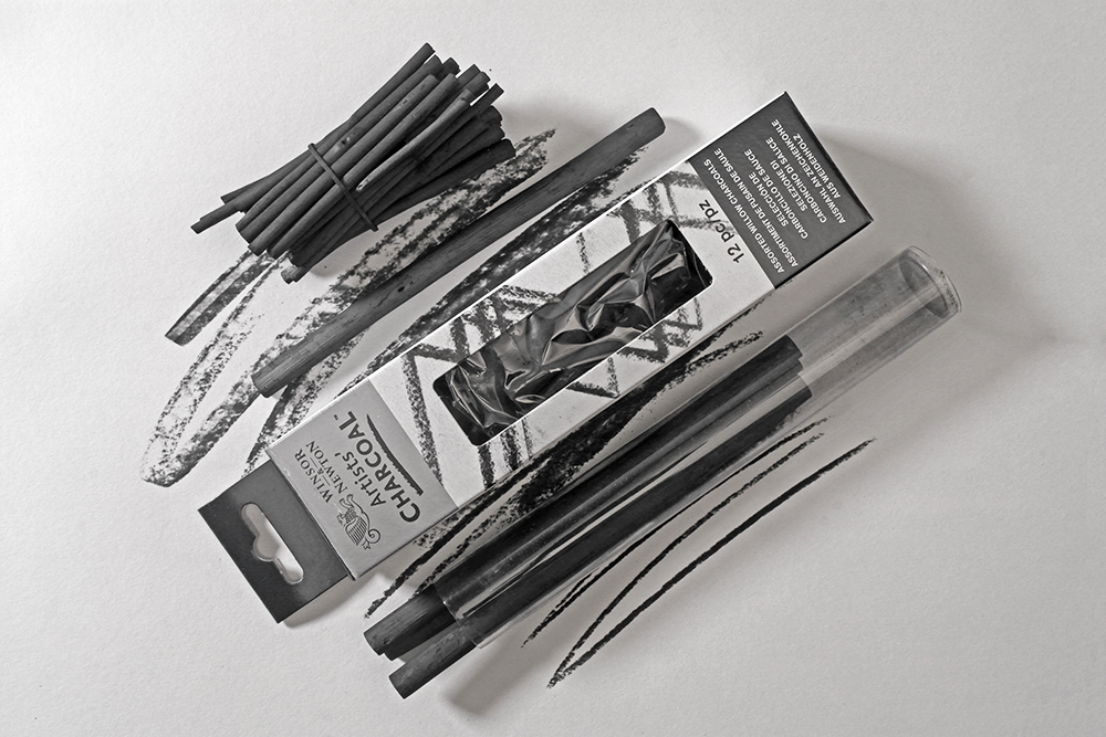 Winsor & Newton Willow Charcoal and Caran d'Ache Natural Charcoal