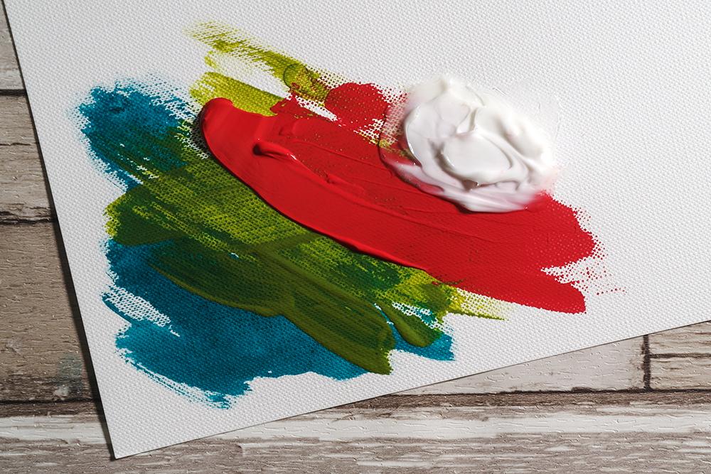 Acrylic Ink, Fluid Acrylic, Heavy Body Acrylic and Acrylic Medium painted on a sheet of Fabriano Tela Acrylic Paper