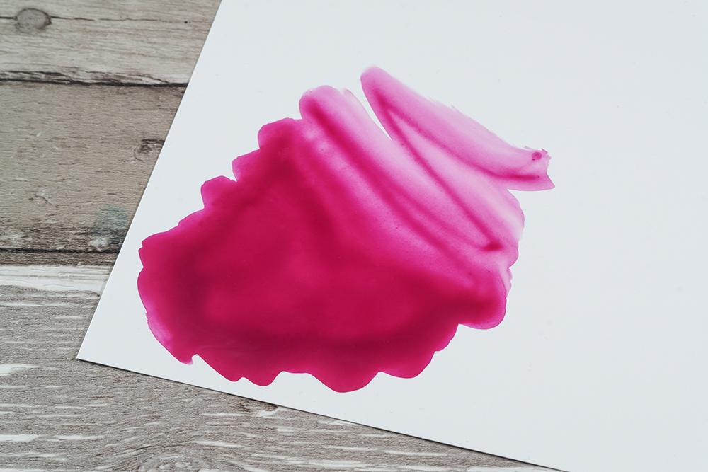 Purple acrylic ink on YUPO paper
