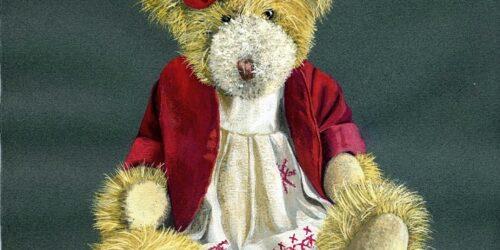 teddy bear in gouache