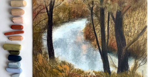 Trace Monotype Printmaking with Soft Pastels