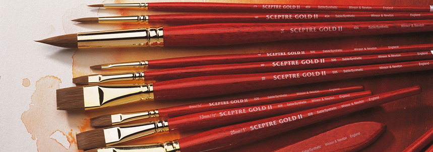 Introducing the Sceptre Gold II Watercolour Brush range