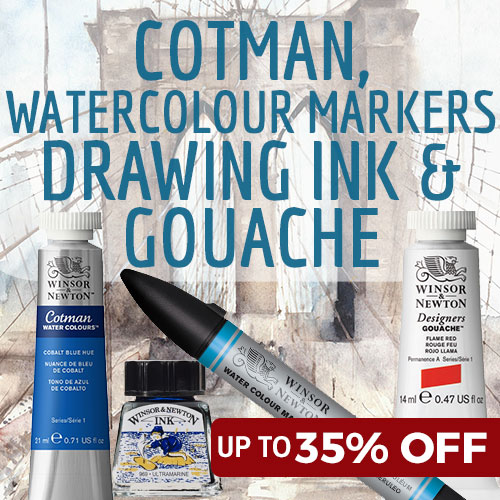 35% off RRP Cotman, Markers, Drawing Ink and Gouache when you buy 6+