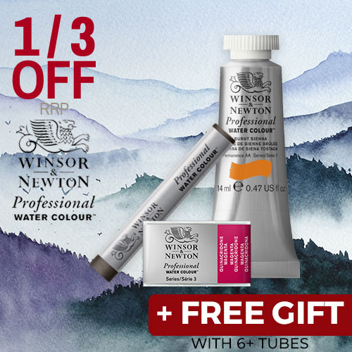 Buy 6 W&N Professional Watercolours and get a free bottle of W&N Masking Fluid