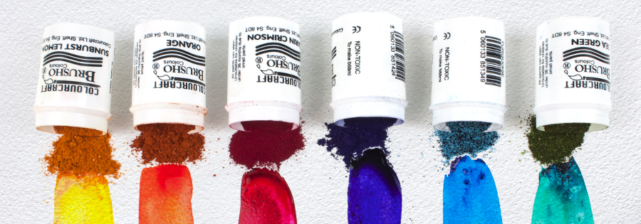 Brusho Crystal Colours - Crystalline powder that transforms into vibrant watercolour