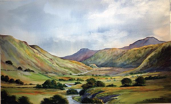 charles evans hilly landscape tutorial
