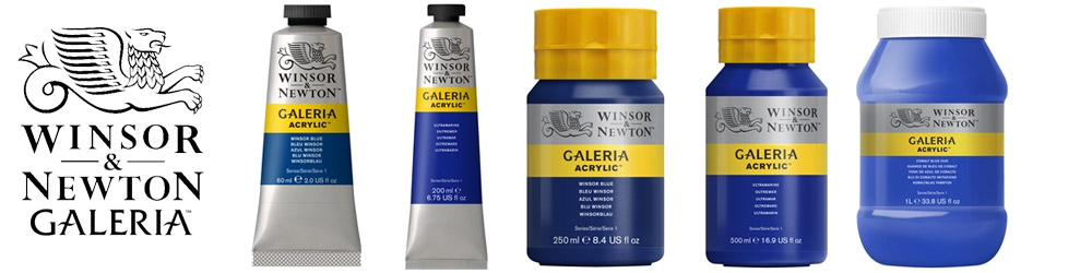 Winsor & Newton Galeria Acrylic Paint range of sizes