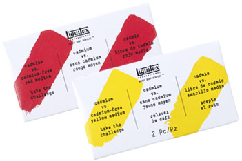 Liquitex Cadmium Free Acrylic Paint Samples