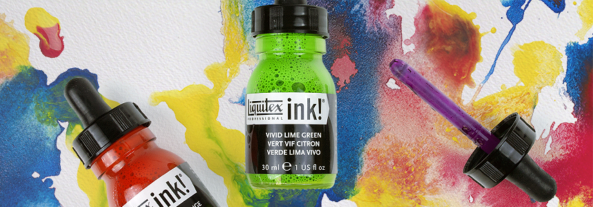 Liquitex Professional Acrylic Inks - Super fluid, professional level Acrylic Paint