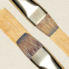 Oil Brush Shapes Long Flat and Short Flat Bright