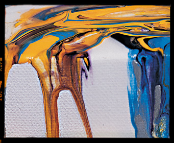 Liquitex pouring medium example
