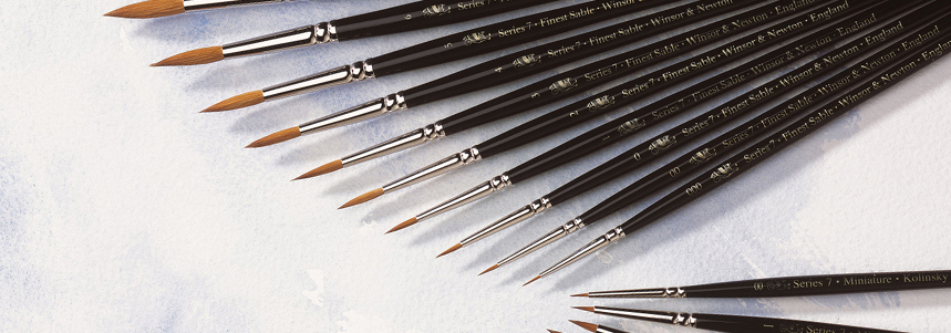 Introducing the Series 7 Kolinsky Sable Watercolour Brush Range