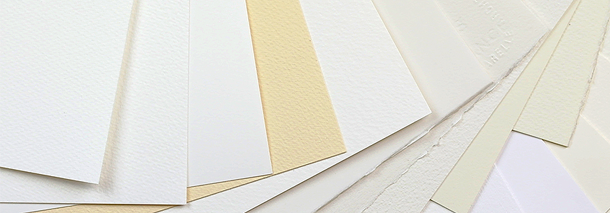 A selection of Watercolour Paper from the Mini Starter Pack