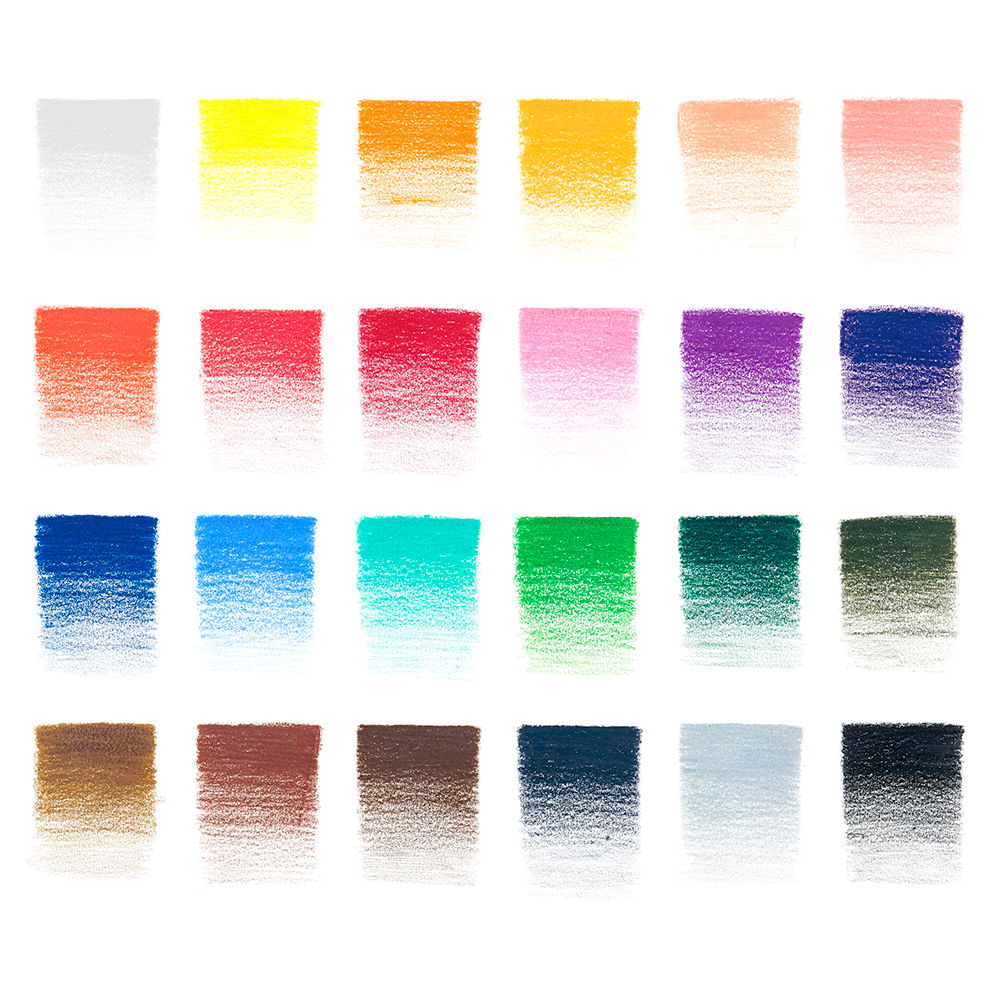 Winsor & Newton Studio Collection Soft Thick Core Coloured Pencil Colour Swatches