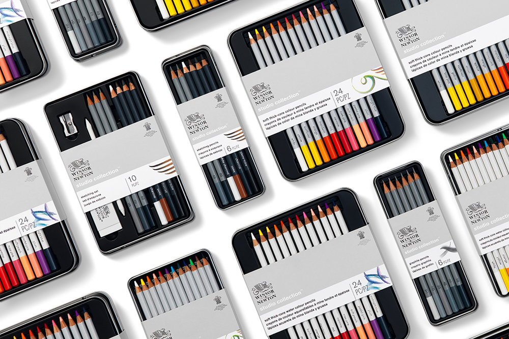 NEW Winsor & Newton Studio Collection Colour, Drawing and Sketching Artists Pencils
