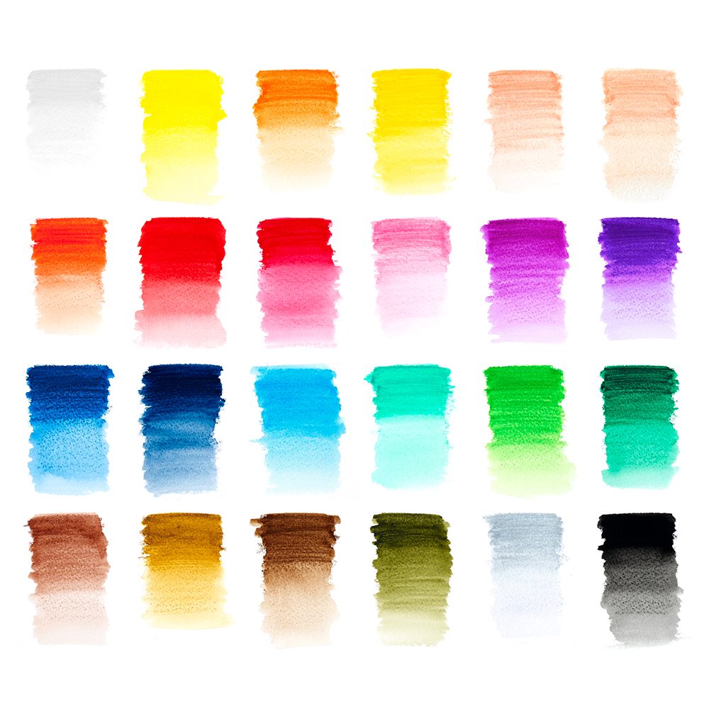 Winsor & Newton Studio Collection Watercolour Pencil Swatches