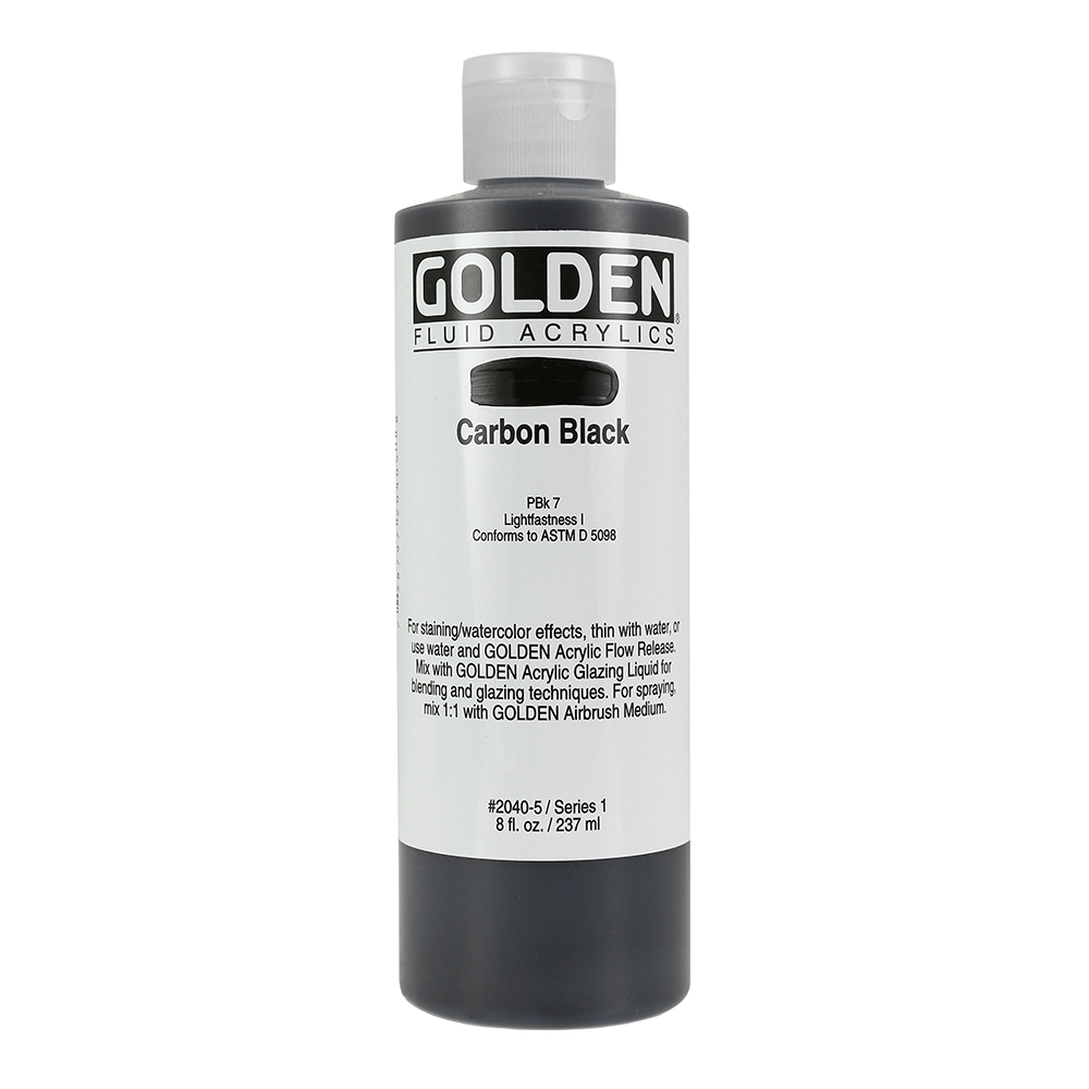 Additional Golden Fluid Acrylics In White And Black Ken