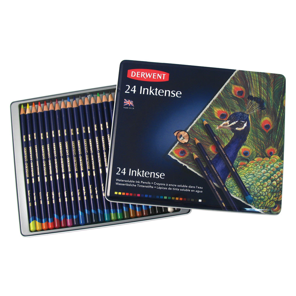 Painting With Pencils 'Inktense' Coloured Ink Paint by Derwent Set ...