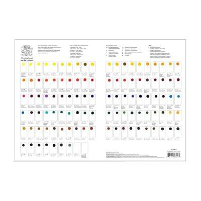 Winsor and Newton Professional Watercolour Dot Card
