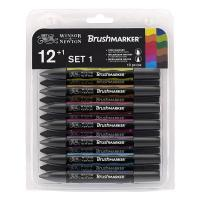 Winsor & Newton Brush Marker - Set of 12