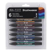 Winsor & Newton Brush Marker - Set of 6 Rich Tones