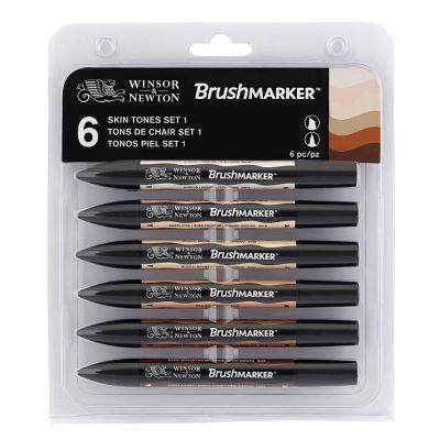 Winsor & Newton Brush Marker - Set of 6 Skin Tones