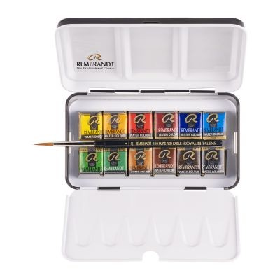 Rembrandt Watercolour 12 Half Pan Metal Tin set