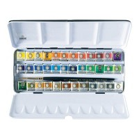 Rembrandt Watercolour 36 Half Pan Metal Tin Set