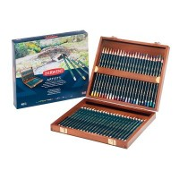 Derwent Artists Pencils 48 Wooden Box