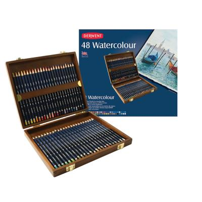 Derwent Watercolour Pencils 48 Wooden Box