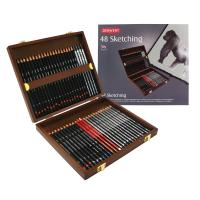 Derwent Sketching Pencils 48 Wooden Box