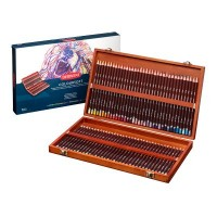 Derwent 72 Coloursoft Pencils Wooden Box Set