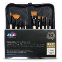 Zieler Premium Mixed Media Brush Zip Case