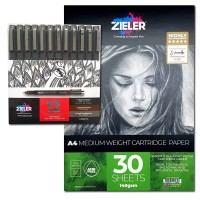 Zieler Finerliner Pen and Pad Bundle