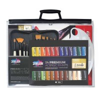 Zieler 37-Piece Acrylic Paint Set Bundle with A3 Bag