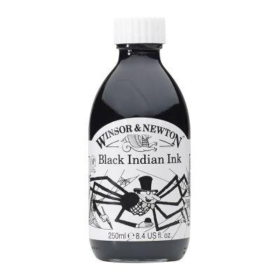 Winsor & Newton Drawing Inks 250ml Bottle Black Indian Ink