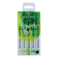 Ecoline Brush Pen Set of 5 Green