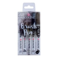 Ecoline Brush Pen Set of 5 Grey