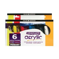 Graduate Acrylic Paint Primary Set 6 x 75ml
