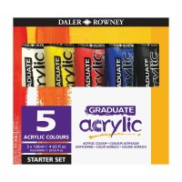 Graduate Acrylic Paint Starter Set 5 x 120ml