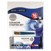 Simply Gouache Paint 16 Piece Starter Set