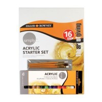 Simply Acrylic Paint 16 Piece Starter Set
