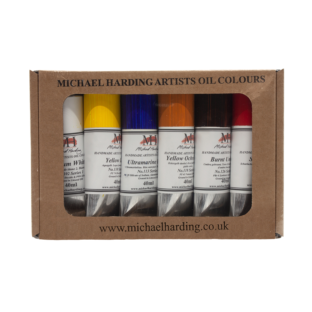Michael Harding Artists Oil Paint 6 Tube Introduction Set