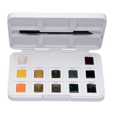 Van Gogh Watercolour Paint Shades of Nature Pocket Box