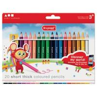 Bruynzeel Short Thick Coloured Pencils Set of 20