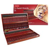 Derwent 72 Pastel Pencils Wooden Box Set