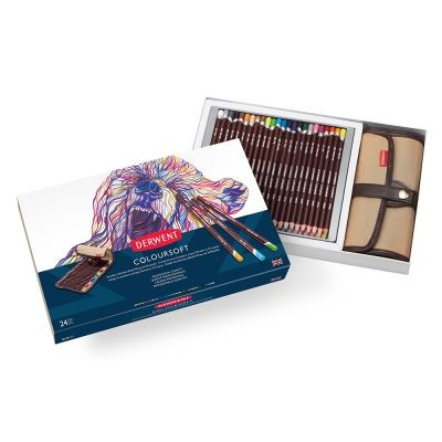 Derwent Coloursoft 24 Pencil Wrap Set