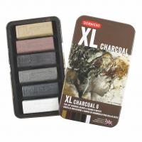 Derwent XL Charcoal 6 Tin