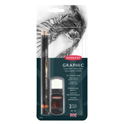 Derwent Graphic 2 in 1 Sharpener & Eraser